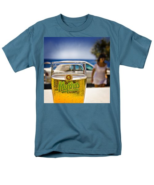 Men's T-Shirt  (Regular Fit) featuring the photograph Greek Beer Goggles by Meirion Matthias