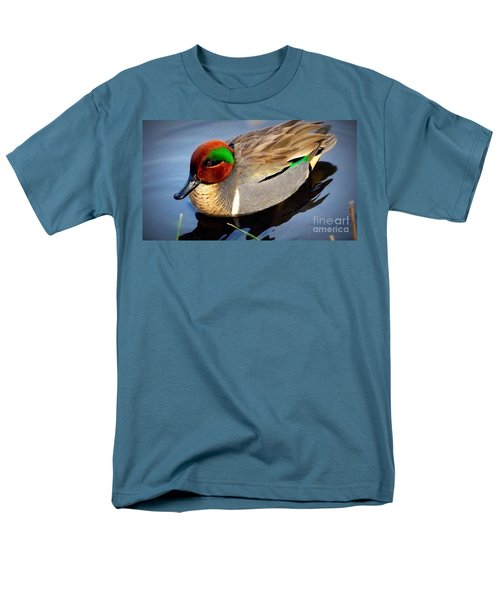 Green Winged Teal  Duck  Men's T-Shirt  (Regular Fit) by Susan Garren