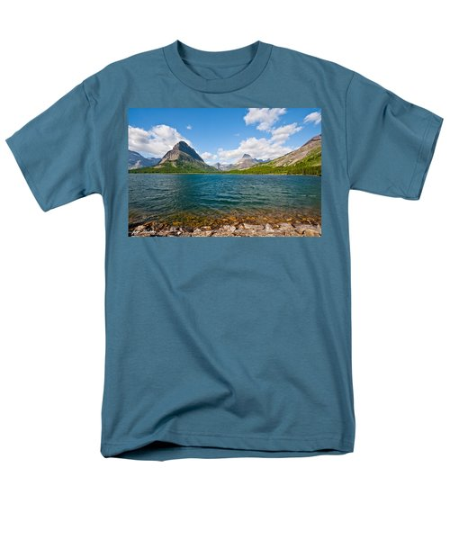 Grinnell Point From Swiftcurrent Lake Men's T-Shirt  (Regular Fit) by Jeff Goulden