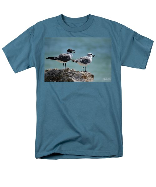 Gull Talk Men's T-Shirt  (Regular Fit) by Susan Molnar