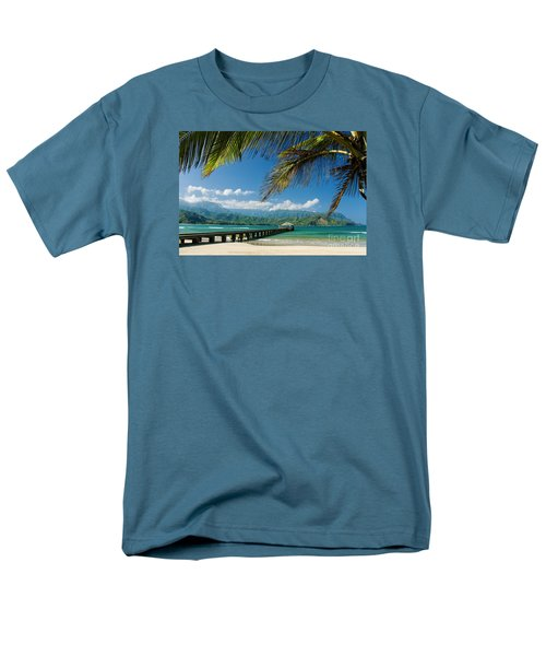 Hanalei Pier And Beach Men's T-Shirt  (Regular Fit) by M Swiet Productions