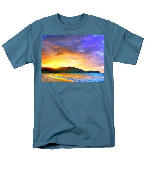 Hanalei Sunset Men's T-Shirt  (Regular Fit) by Dominic Piperata
