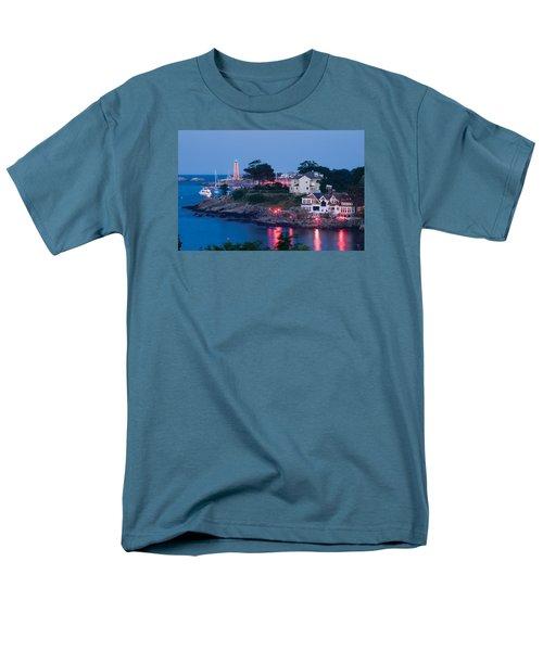 Marblehead Harbor Illumination Men's T-Shirt  (Regular Fit) by Jeff Folger