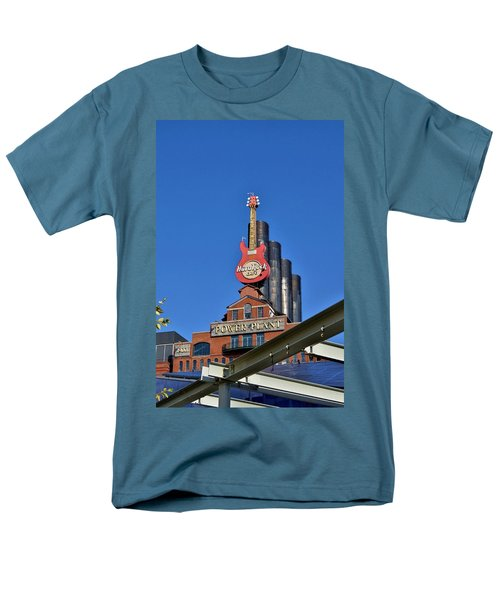 Men's T-Shirt  (Regular Fit) featuring the photograph Hard Rock Cafe - Baltimore by Jean Goodwin Brooks
