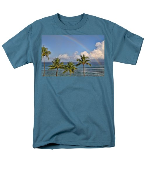 Hawaii Rainbow Men's T-Shirt  (Regular Fit) by Peggy Collins