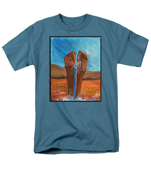 Men's T-Shirt  (Regular Fit) featuring the painting He Is The Rock  by Cassie Sears