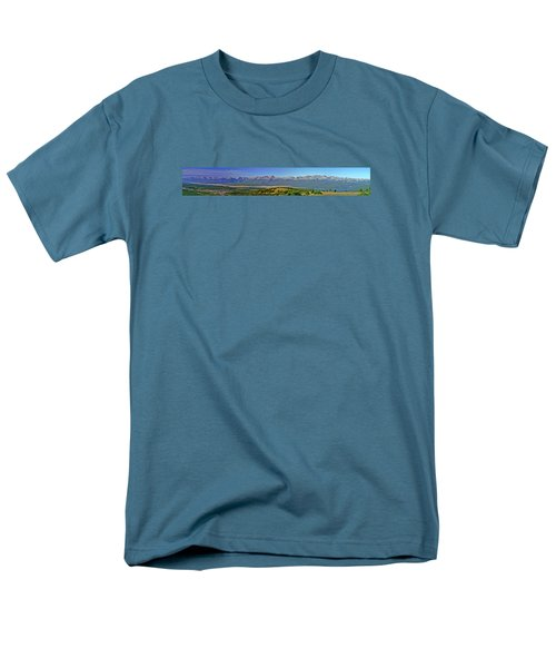 Heart Of The Sawatch Panoramic Men's T-Shirt  (Regular Fit) by Jeremy Rhoades