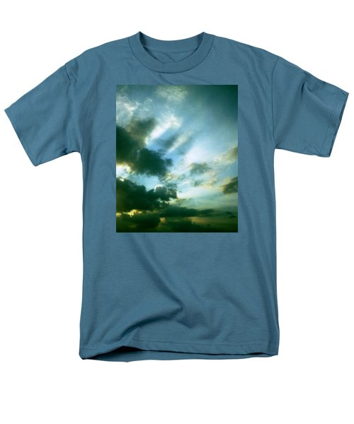 Golden Heavenly Rays Men's T-Shirt  (Regular Fit) by Belinda Lee