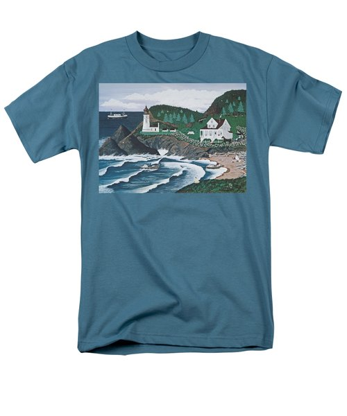 Heceta Lighthouse Men's T-Shirt  (Regular Fit) by Jennifer Lake