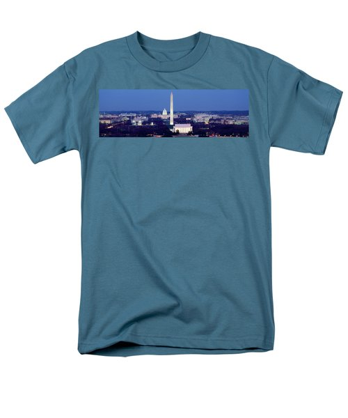 High Angle View Of A City, Washington Men's T-Shirt  (Regular Fit) by Panoramic Images