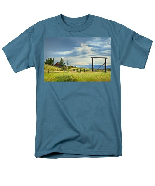 High Country Farm Men's T-Shirt  (Regular Fit) by Theresa Tahara