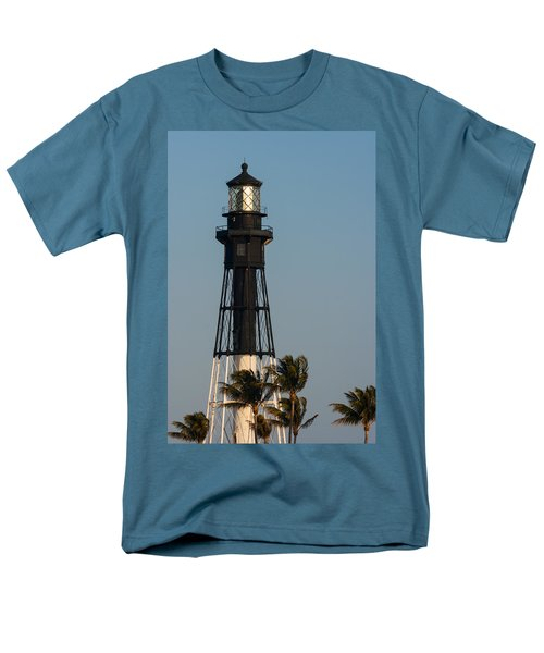 Hillsboro Inlet Lighthouse In The Evening Men's T-Shirt  (Regular Fit) by Ed Gleichman