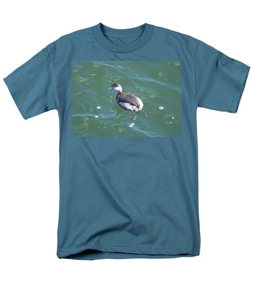Horned Grebe Men's T-Shirt  (Regular Fit) by James Petersen