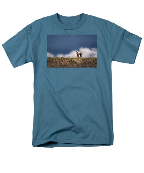 Men's T-Shirt  (Regular Fit) featuring the photograph Horse In The Clouds  by Janis Knight