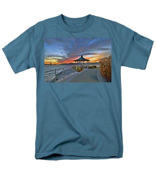 Hudson River Fiery Sky Men's T-Shirt  (Regular Fit) by Jeffrey Friedkin
