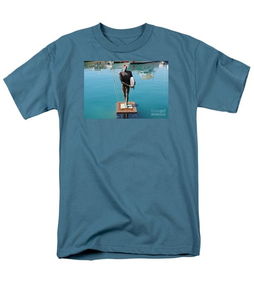Icarus With His Surfboard Men's T-Shirt  (Regular Fit) by Linda Prewer