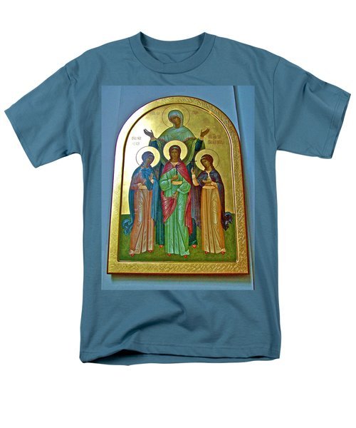 Icon Inside Chesme Church Built By Catherine The Great In Saint  Petersburg-russia Men's T-Shirt  (Regular Fit) by Ruth Hager