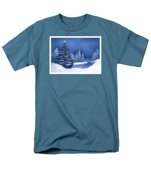 Men's T-Shirt  (Regular Fit) featuring the digital art Icy Blue by Scott Ross