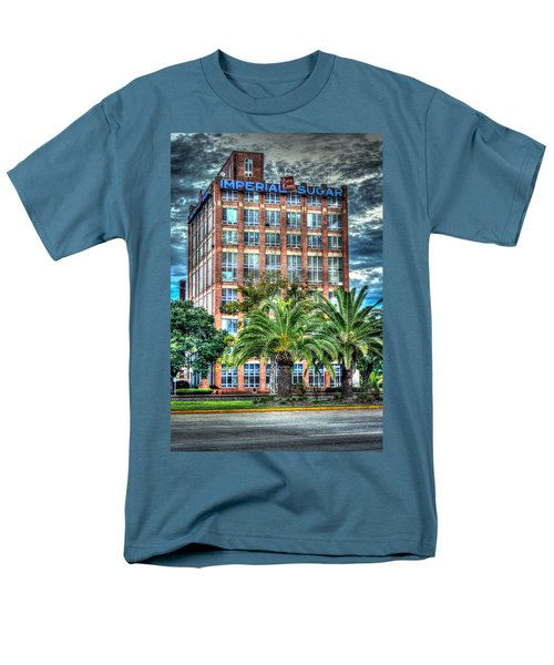 Imperial Sugar Factory Daytime Hdr Men's T-Shirt  (Regular Fit) by David Morefield