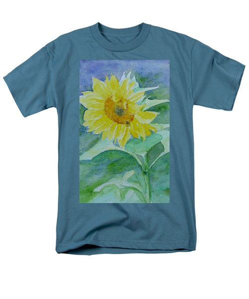 Inviting Sunflower Small Sunflower Art Men's T-Shirt  (Regular Fit) by Elizabeth Sawyer