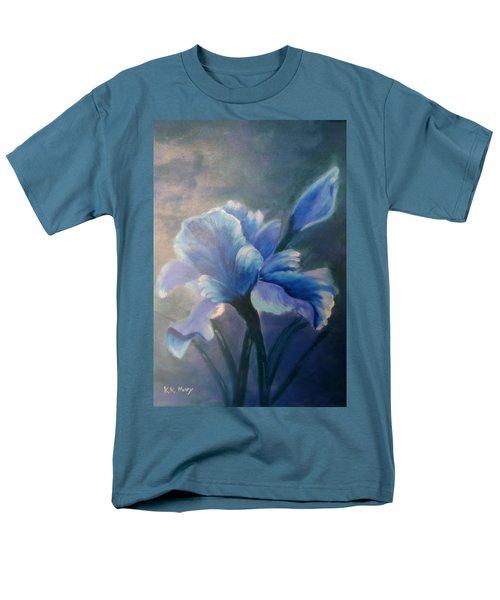 Iris Blue Men's T-Shirt  (Regular Fit) by Kay Novy