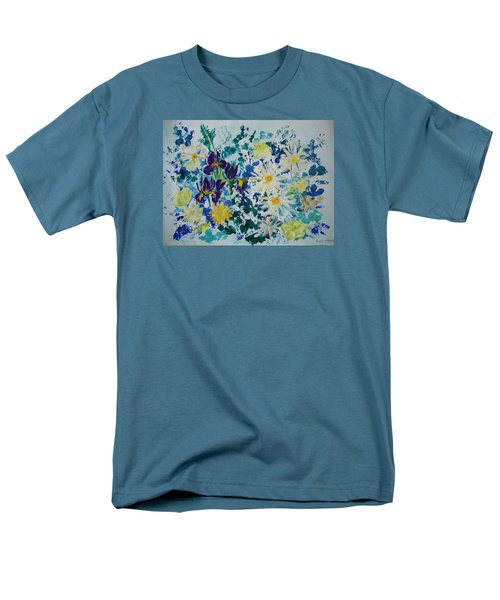 Iris Bouquet Men's T-Shirt  (Regular Fit) by Veronica Rickard