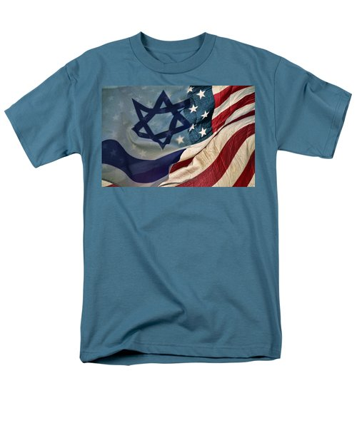 Israeli American Flags Men's T-Shirt  (Regular Fit) by Ken Smith