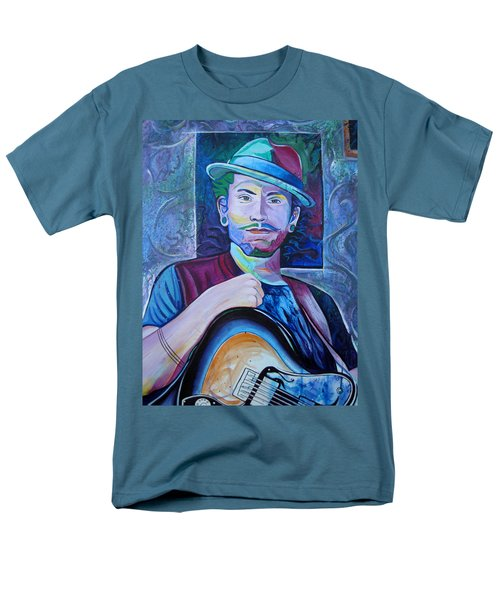 Men's T-Shirt  (Regular Fit) featuring the painting John Butler by Joshua Morton