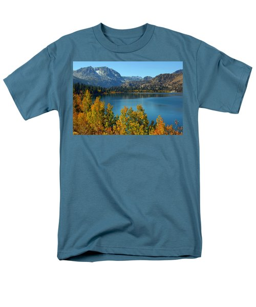 Men's T-Shirt  (Regular Fit) featuring the photograph June Lake Blues And Golds by Lynn Bauer