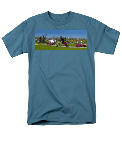 Kentucky Horse Farm Men's T-Shirt  (Regular Fit) by Randall Branham