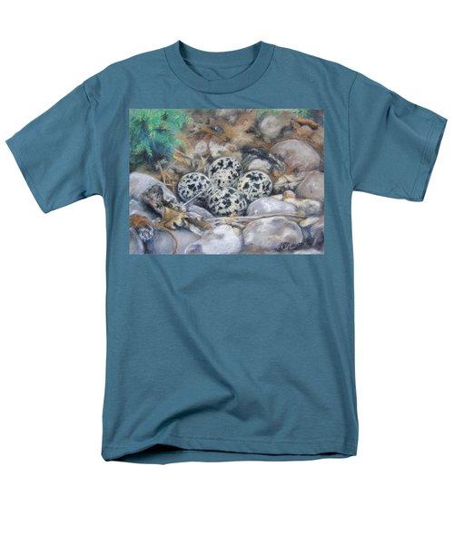 Men's T-Shirt  (Regular Fit) featuring the drawing Killdeer Nest by Lori Brackett