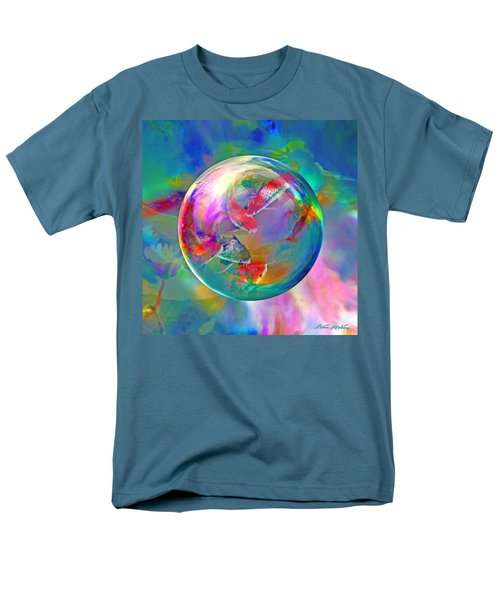 Koi Pond In The Round Men's T-Shirt  (Regular Fit) by Robin Moline