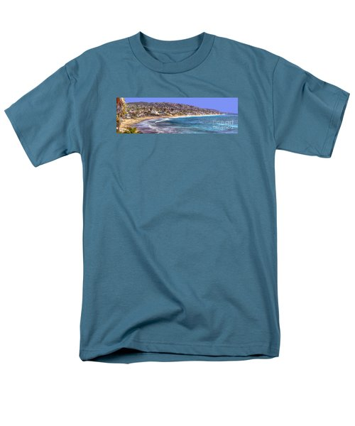 Men's T-Shirt  (Regular Fit) featuring the photograph Laguna Beach Coast Panoramic by Jim Carrell
