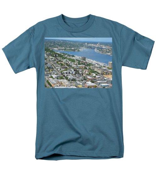 Lake Union Panorama Men's T-Shirt  (Regular Fit) by David Trotter