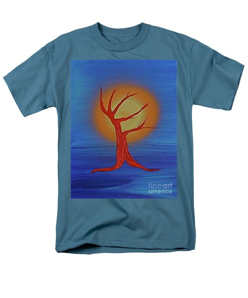Men's T-Shirt  (Regular Fit) featuring the painting Life Blood By Jrr by First Star Art