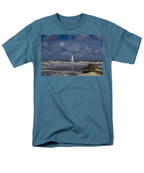 lighthouse at New Brighton Men's T-Shirt  (Regular Fit) by Spikey Mouse Photography
