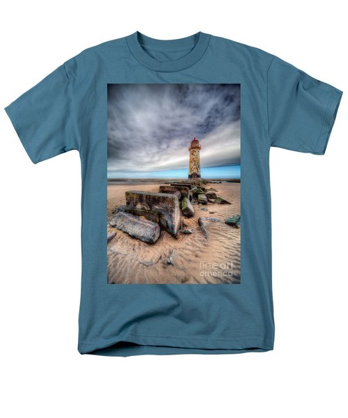 Lighthouse At Talacre  Men's T-Shirt  (Regular Fit) by Adrian Evans