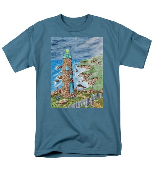 Lighthouse Men's T-Shirt  (Regular Fit) by Katherine Young-Beck