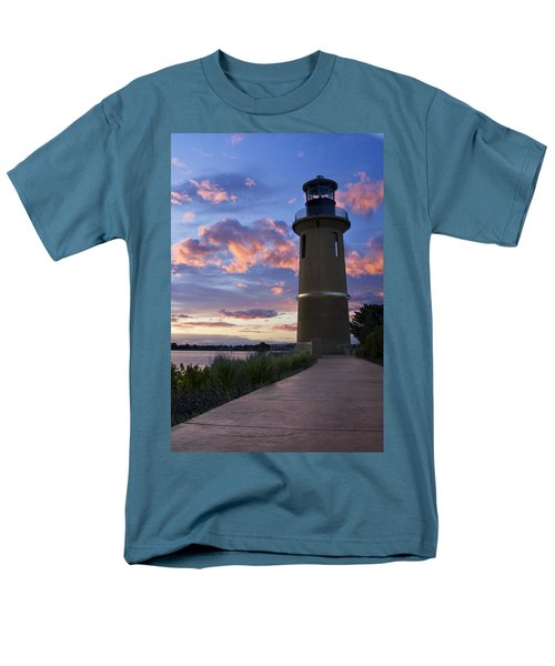 Men's T-Shirt  (Regular Fit) featuring the photograph Lighthouse by Sonya Lang