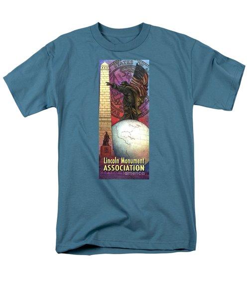 Lincoln Monuments Street Banners Civil War Flag Bearer Men's T-Shirt  (Regular Fit) by Jane Bucci