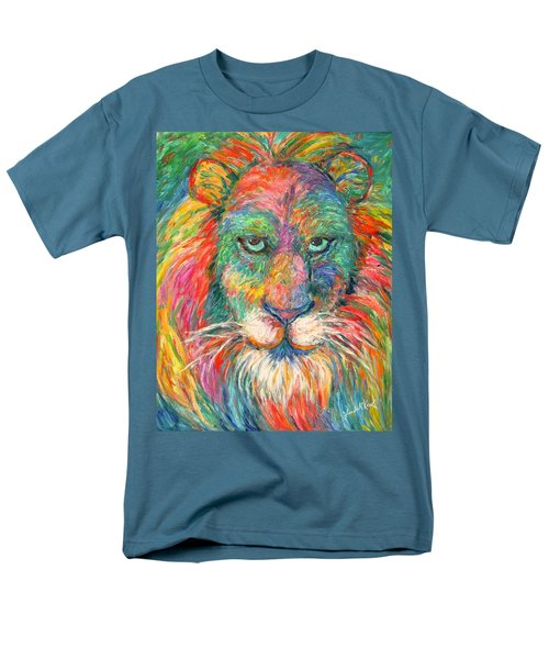 Lion Explosion Men's T-Shirt  (Regular Fit) by Kendall Kessler