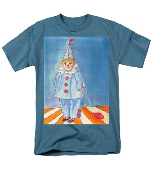 Men's T-Shirt  (Regular Fit) featuring the painting Little Blue Clown by Arlene Crafton