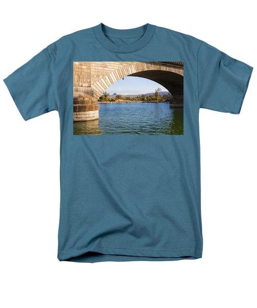 London Bridge At Lake Havasu City Men's T-Shirt  (Regular Fit) by Fred Larson
