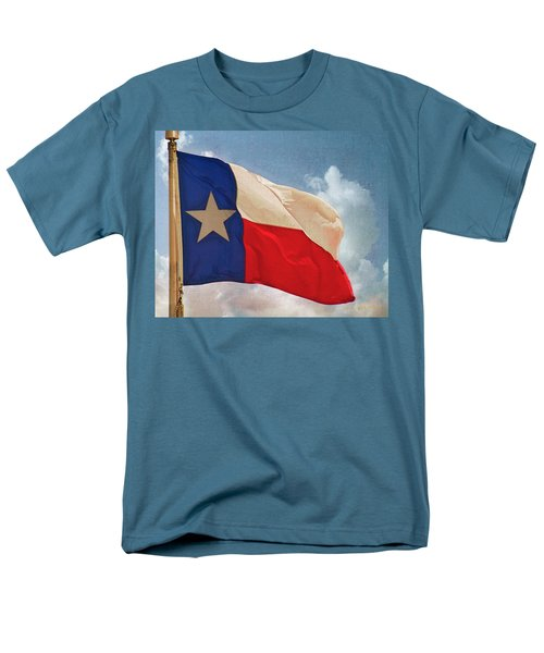 Lone Star Flag Men's T-Shirt  (Regular Fit) by Walter Herrit