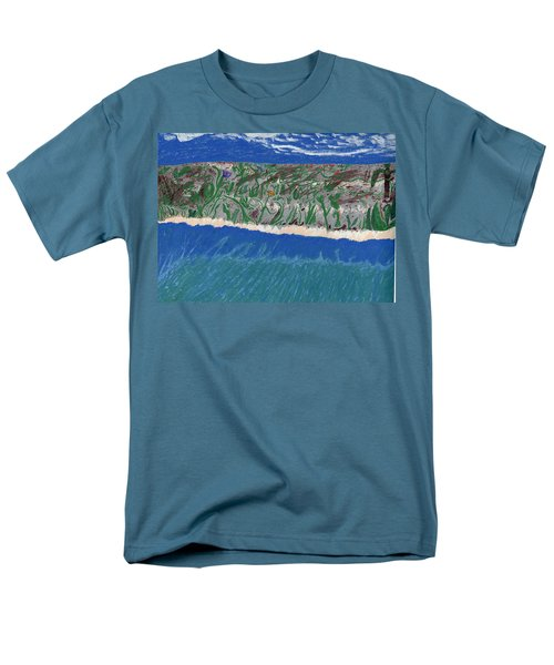 Men's T-Shirt  (Regular Fit) featuring the painting Lost Island by Kim Pate