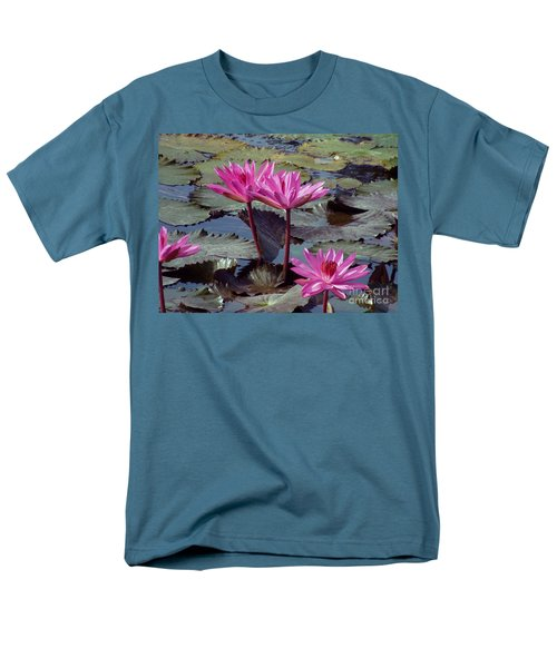 Lotus Flower Men's T-Shirt  (Regular Fit) by Sergey Lukashin
