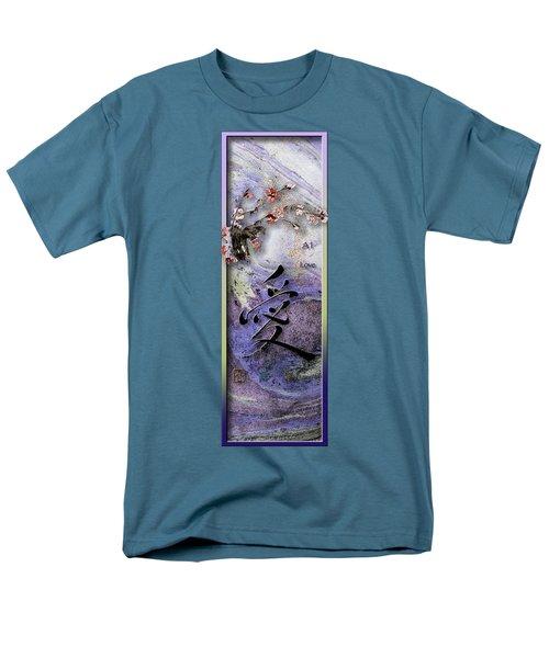 Love Ink Brush Calligraphy Men's T-Shirt  (Regular Fit) by Peter v Quenter