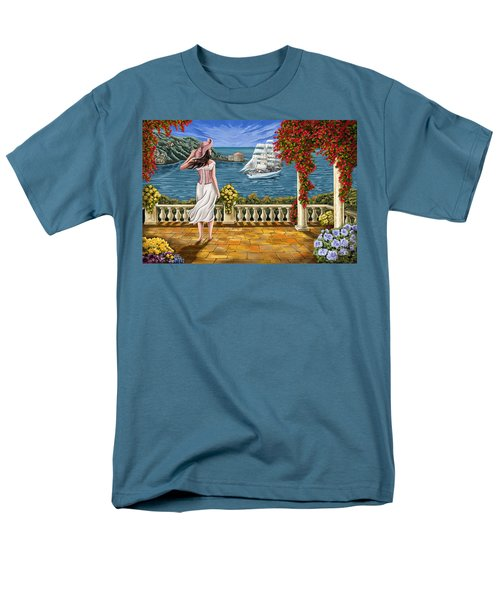 Men's T-Shirt  (Regular Fit) featuring the painting Love Is Coming Home by Tim Gilliland