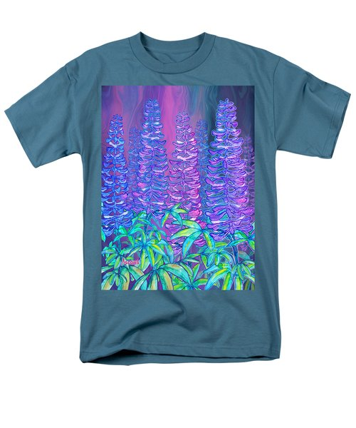 Men's T-Shirt  (Regular Fit) featuring the mixed media Lupines by Teresa Ascone