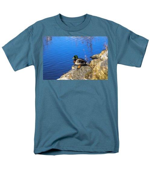 Mallard Looking Over His Domain Men's T-Shirt  (Regular Fit)